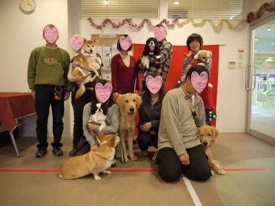 大型犬の部集合写真修正